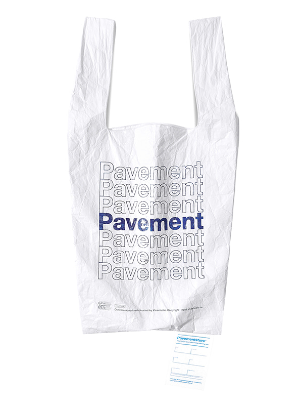 PAVEMENT TYVEK BAG GA [WHITE]