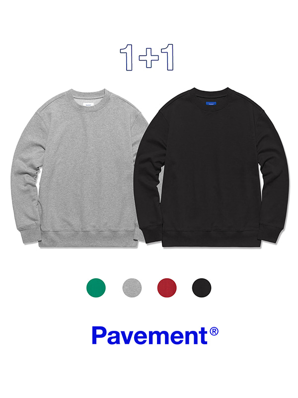 1+1 PAVEMENT CREWNECK GA