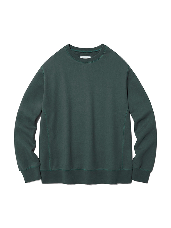DYED COLOR CREWNECK IS [OLIVE]