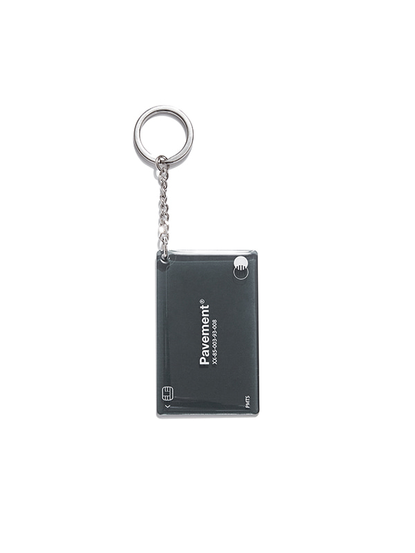 CARD KEYRING IS  [BLACK]