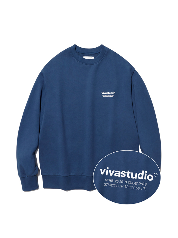 LOCATION LOGO CREWNECK IA [INDIGO BLUE]