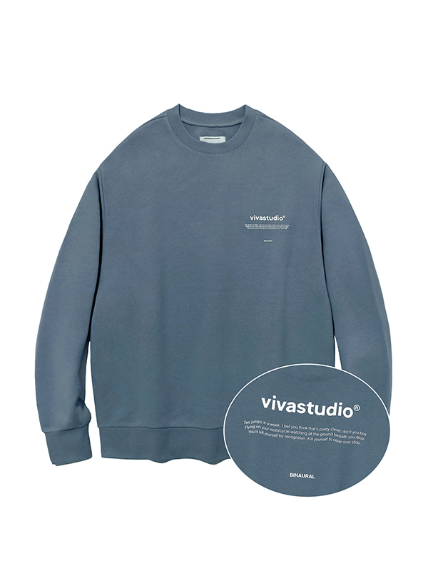 NEW BINAURAL CREWNECK IA [COOL GREY]
