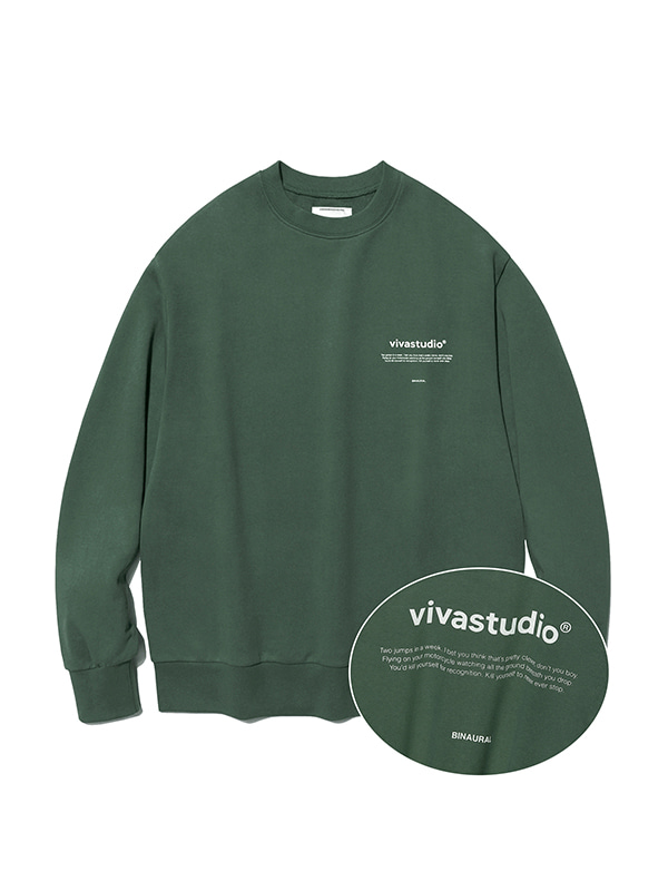 NEW BINAURAL CREWNECK IA [GREEN TEA]