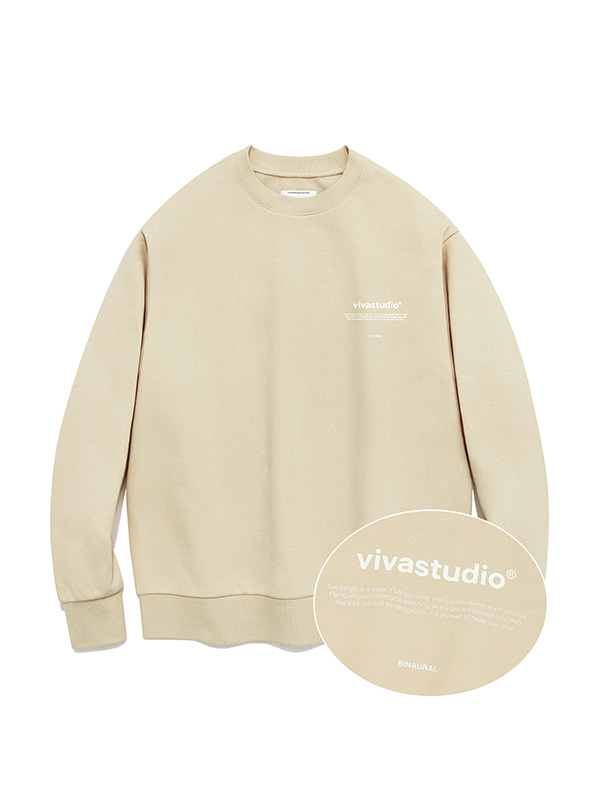 NEW BINAURAL CREWNECK IA [BEIGE]