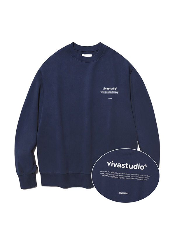 NEW BINAURAL CREWNECK IA [NAVY]