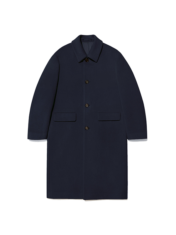CASHMERE SINGLE COAT IA [NAVY]