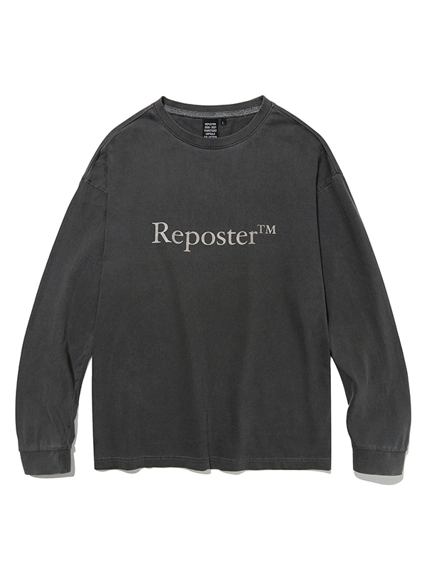 REPOSTER PIGMENT LONG SLEEVE JS [GREY]