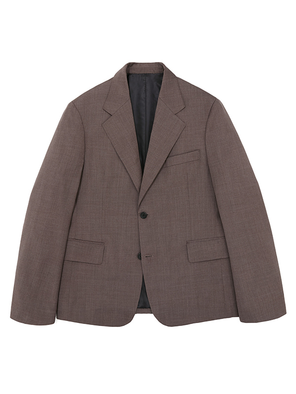SINGLE BREASTED BLAZER JS [BROWN]