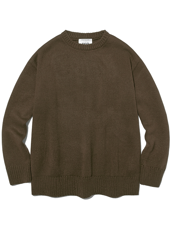 BASIC KNIT IA [BROWN]