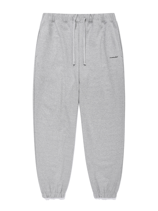 BASIC LOGO SWEATPANTS JA [MELANGE GREY]