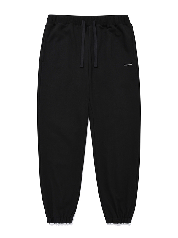 BASIC LOGO SWEATPANTS JA [BLACK]